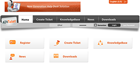 AdvTicket Helpdesk Powerful End User